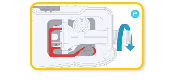 نصب فلاش تانک - مرحله سوم- ایمن آب مدل کاسپین